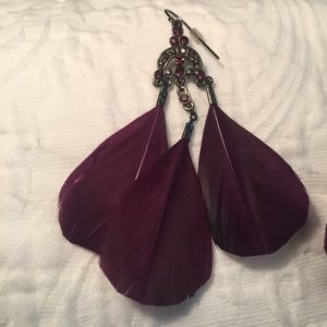 Guess Feather Earrings